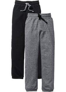 Трикотажные брюки (2 шт.), Размеры  116-170 (черный/серый меланж) Bonprix