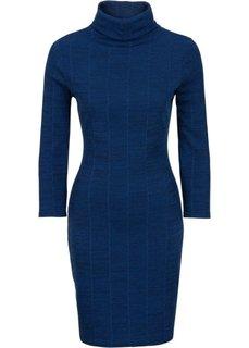 Платье-водолазка (синий меланж) Bonprix