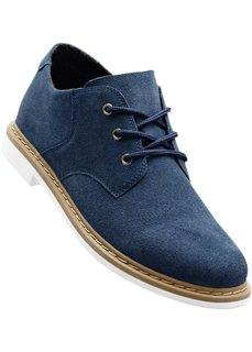 Замшевые туфли со шнуровкой (темно-синий океан) Bonprix