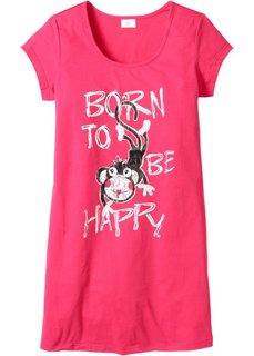 Ночная сорочка с принтом (ярко-розовый с принтом обезьянки) Bonprix