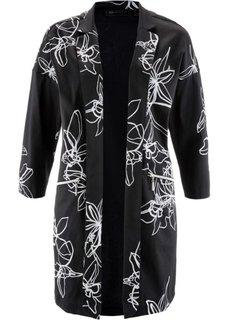 Пальто (черный/белый с рисунком) Bonprix