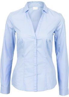 Блузка-стретч (жемчужно-синий) Bonprix