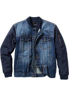 Джинсовая куртка Regular Fit (синий «потертый») Bonprix