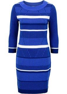 Вязаное платье (синий) Bonprix