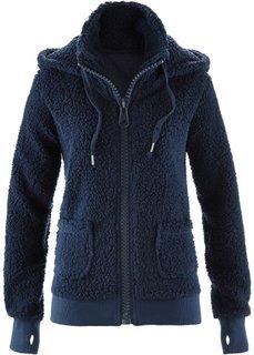 Куртка из плюшевого флиса (темно-синий) Bonprix