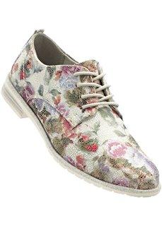 Туфли от Marco Tozzi на шнуровке (белый в цветочек) Bonprix