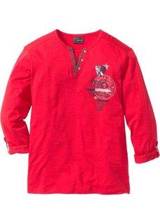 Футболка Regular Fit с длинным рукавом (красный) Bonprix