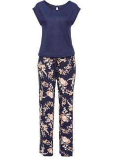 Комбинезон с цветочным принтом (ночная синь в цветочек) Bonprix