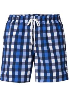 Мужские купальные шорты (синий в клетку) Bonprix