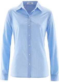 Блуза-рубашка с длинными рукавами (жемчужно-синий) Bonprix