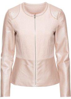 Байкерская куртка с баской (нежно-розовый) Bonprix