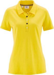 Футболка-поло из материала пике (лимонно-желтый) Bonprix