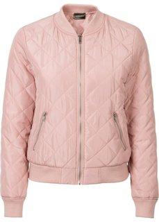 Куртка со стеганым узором (винтажно-розовый) Bonprix