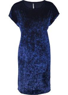 Бархатное платье (темно-синий) Bonprix