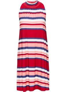 Трикотажное платье А-образного покроя (в полоску) Bonprix