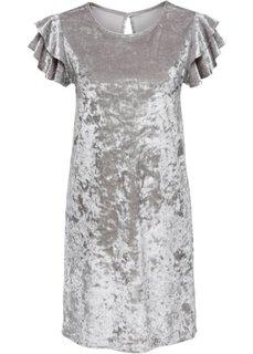 Бархатное платье (хаки) Bonprix