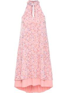 Платье с чокером (светло-коралловый в цветочек) Bonprix