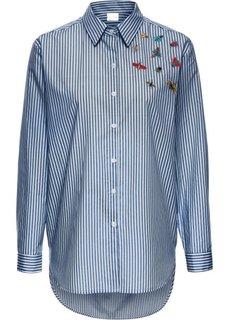 Блуза (кремовый/синий в полоску) Bonprix