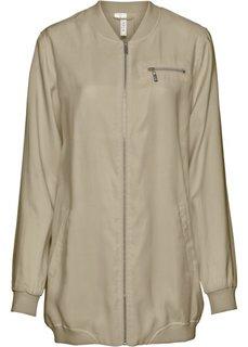 Длинная куртка-бомбер (камышово-бежевый) Bonprix