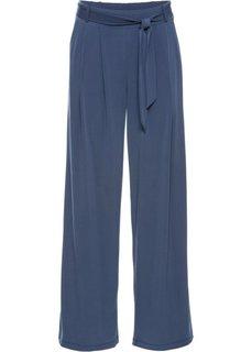 Широкие брюки с поясом (индиго) Bonprix