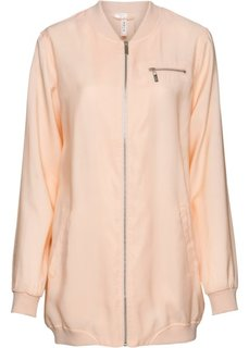 Длинная куртка-бомбер (жемчужно-бежевый) Bonprix