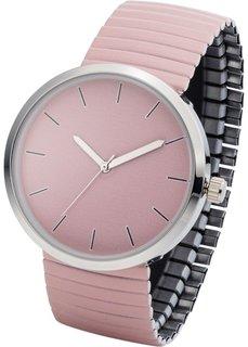Часы на эластичном браслете (розовый) Bonprix