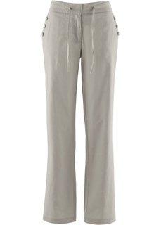 Широкие брюки (серо-коричневый) Bonprix