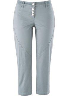 Стретчевые брюки длины 3/4 (серебристо-серый) Bonprix