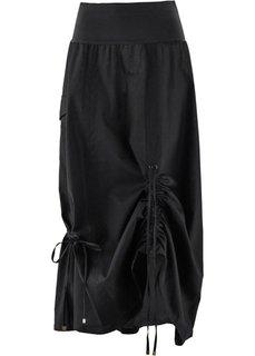 Льняная юбка (черный) Bonprix