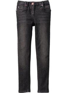 Джинсы Super Skinny, Размеры  116-170 (черный «потертый») Bonprix