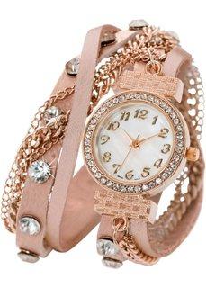 Наручные часы-браслеты Майри (розовый/розово-золотистый) Bonprix
