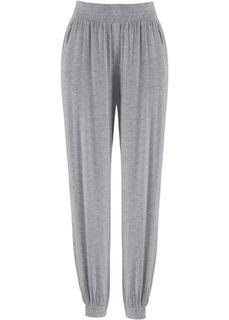 Трикотажные брюки-шаровары (светло-серый меланж) Bonprix