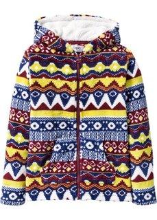 Флисовая куртка (темно-бордовый с узором) Bonprix