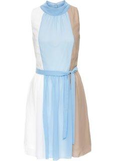 Платье с американской проймой (нежно-голубой/темно-синий в полоску) Bonprix