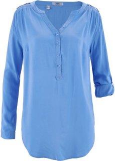 Туника с длинным рукавом (голубой) Bonprix