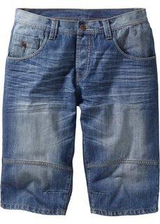 Джинсовые бермуды Loose Fit (голубой выбеленный «потертый») Bonprix