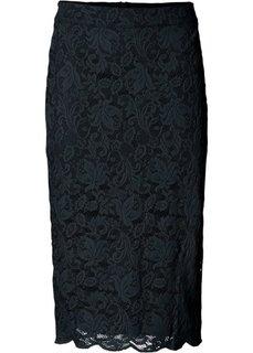 Кружевная юбка (черный) Bonprix
