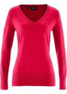 Пуловер тонкой вязки (темно-красный) Bonprix