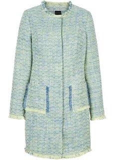 Пальто (синий/нежно-желтый/белый меланж) Bonprix