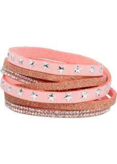 Многослойный браслет со звездочками (розовый) Bonprix