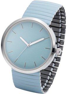 Часы на эластичном браслете (нежно-голубой) Bonprix