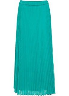 Длинная плиссированная юбка (изумрудный) Bonprix