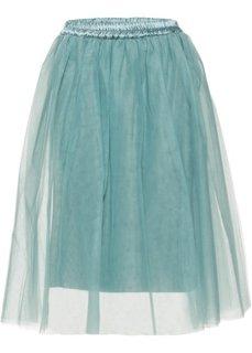 Тюлевая юбка (минерально-синий) Bonprix