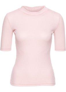 Футболка в резинку (розовый) Bonprix