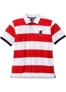 Футболка поло Regular Fit (красный/белый в полоску) Bonprix