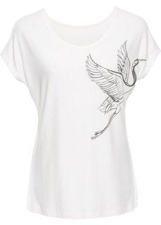 Классика гардероба: футболка с принтом (кремовый с рисунком) Bonprix