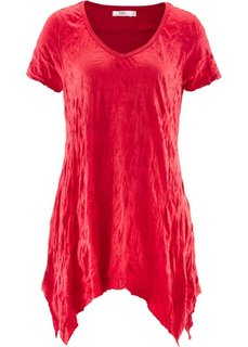 Удлиненная футболка с коротким рукавом (красный) Bonprix