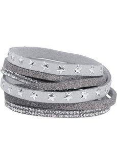 Многослойный браслет со звездочками (светло-серый) Bonprix