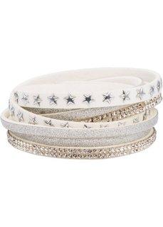 Многослойный браслет со звездочками (белый) Bonprix
