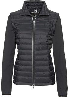 Куртка с жилеткой 2 в 1 (черный) Bonprix